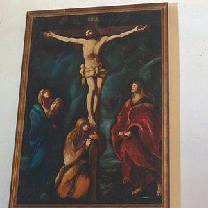 Dipinto della rappresentazione della crocifissione