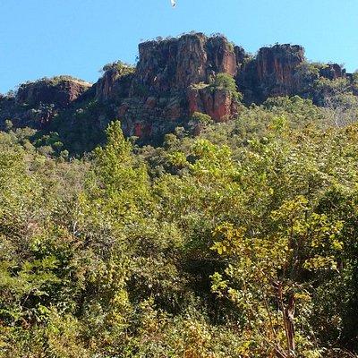 Morro do Chapéu visto da base do morro