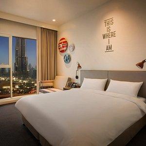 Rove Downtown Dubai, Rover Room Burj View