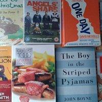 DVDs, recipes, kids books, crime, events etc