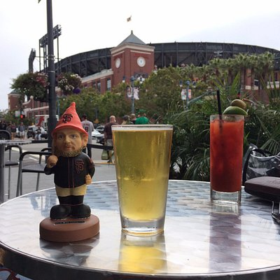 Patio with Pence Dining before game...