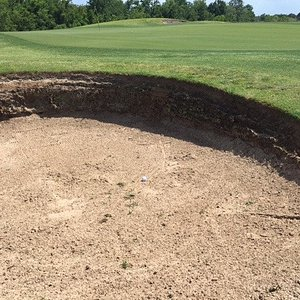 Sod bunker greenside on #14