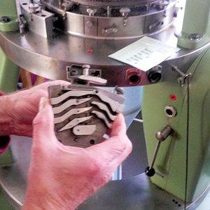 Stricknadelführung einer Maschine