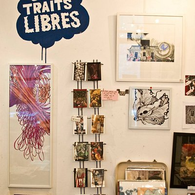 En Traits Libres, and the work of some of the artists in the studio