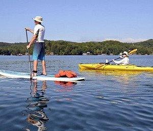Kayaking Lake George from Shoe Meadows Motel 22 lake Ave Lake George