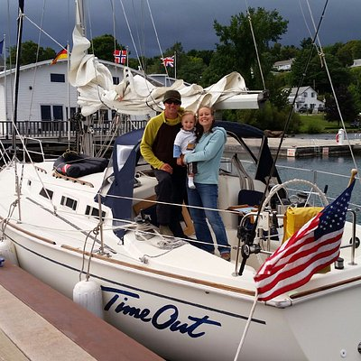 Captain Jake and First Mate Kelly welcome you to an adventure with Time Out Sailing!