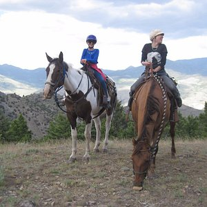Riding in the Gallatin Mountain wilderness.