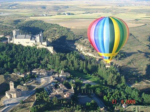 Alcazar of Segovia and Balloon