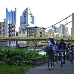 Biking the Burgh in action! You will get this view if you join one of our tours... promised!