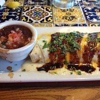 Smothered Smoked Chicken Burrito