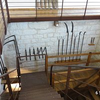A selection of weaponry in the main keep