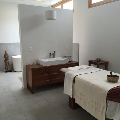 One of the spa treatment rooms.