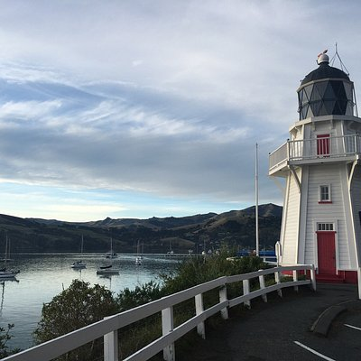Beautiful view on the harbour from the lighthouse