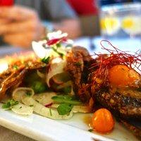 Soft Shel Crab with Quail Egg