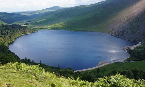 Beautiful view of Lough Tay (Guinness Lake)