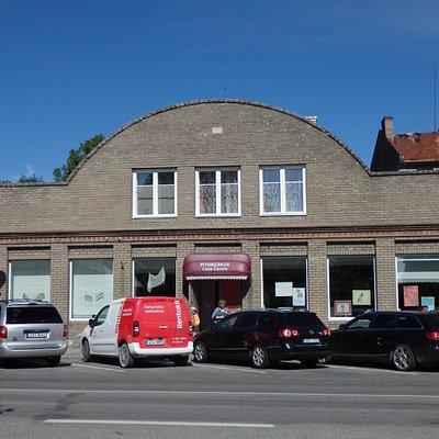 Facade of Haapsalu Lace Center (exhibition and shop center)