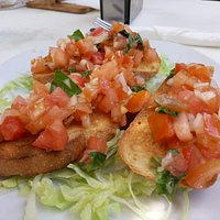 Bruschetta con tomate
