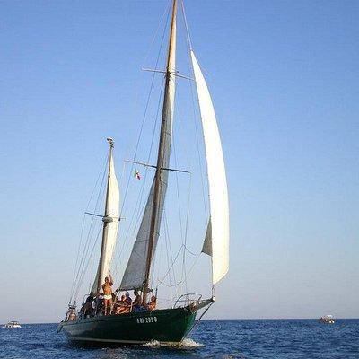Ketch d'epoca Cassiopèe m.15,10. Gite giornaliere con pranzo a bordo