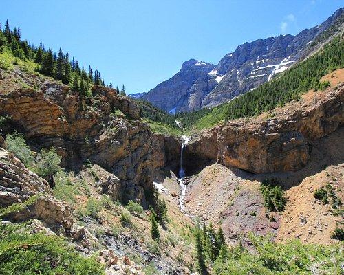Crypt Lake Trail 3 - Falls Along the Trail - June 2016