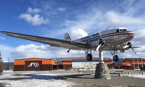 CF-CPY, the Yukon Transportation Museum's DC-3 wind vane.