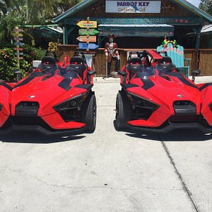 Two Slingshots ready to go out this morning.