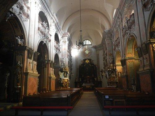 Interior of the St. Vojtech (St. Adalbert) church