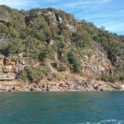 Defences hidden in rocky landscape