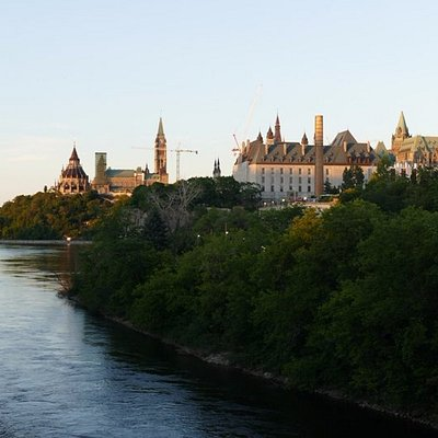 View of the island and downtown Ottawa from Portage Bridge