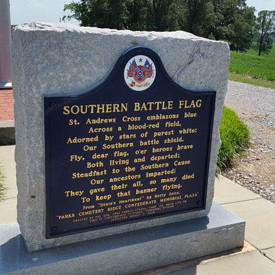 Sign about the Southern Battle Flag