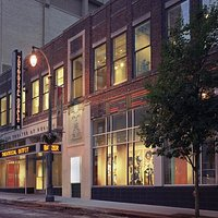 The outside of Theatrical Outfit's Balzer Theatre - in an historic Atlanta building