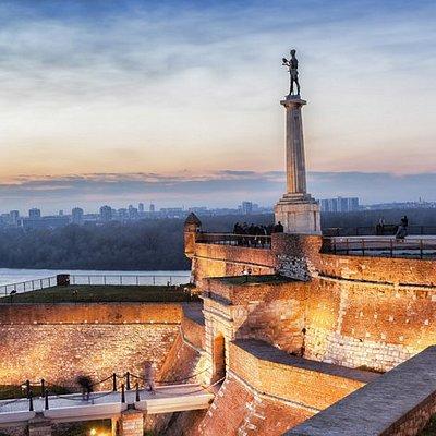 Belgrade Fortress at confluence of Danube and Sava