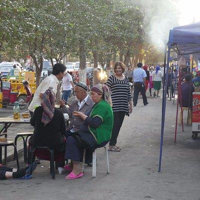 Night Market (food stalls) outside Bazaar