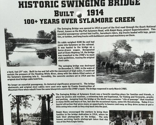 Historic sign posted on the south end of the bridge.