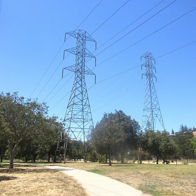 Power Lines Over Park, Jerry Fontana Park, San Jose, CA
