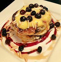 Gluten free buttermilk pancakes with lemon curd... yum!