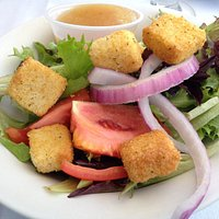 Side salad with Italian dressing