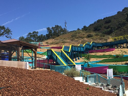 Super Fun 600' slides. Slides take about 45 seconds from start to finish and lines never take to
