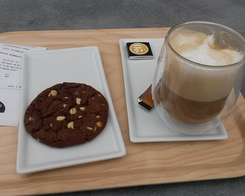 From the café