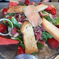 Salade Périgourdine qui fait largement un repas