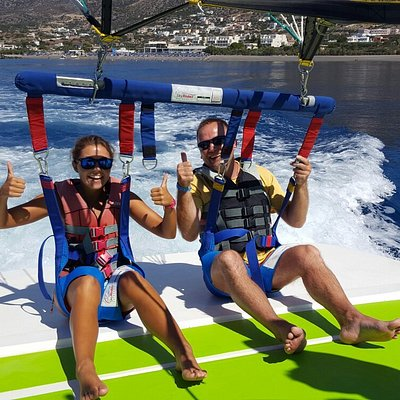 Parasailing watersports center