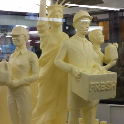 Butter Sculpture, Dairy Building, The Great New York State Fair 2015