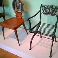 a cast iron chair by Schinkel