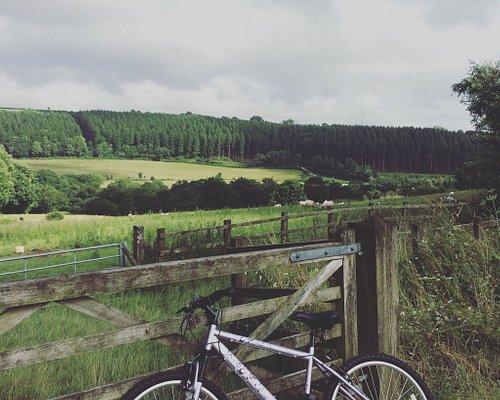 Beautiful views across the countryside.
