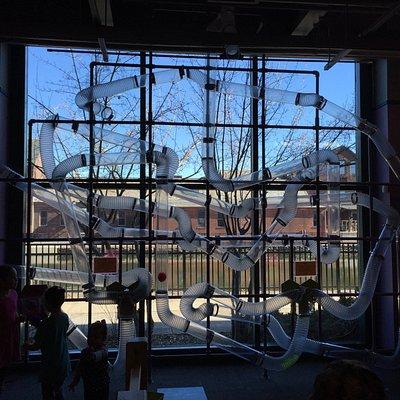 Holyoke Children's Museum Scarf maze