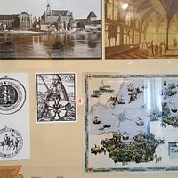Display of maps and depictions from the Teutonic Knights era
