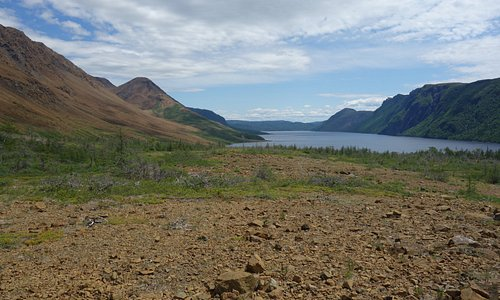 View down Trout River Pond glacial valley