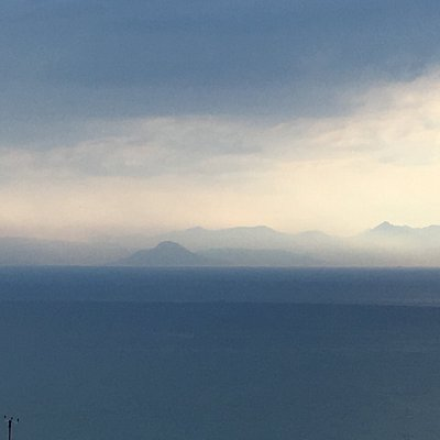 View of Arran from the brae
