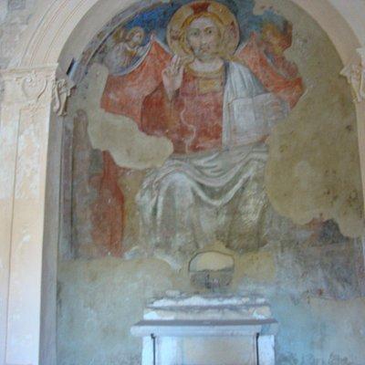 Affresco del Redentore - Abside Chiesa di San Salvatore