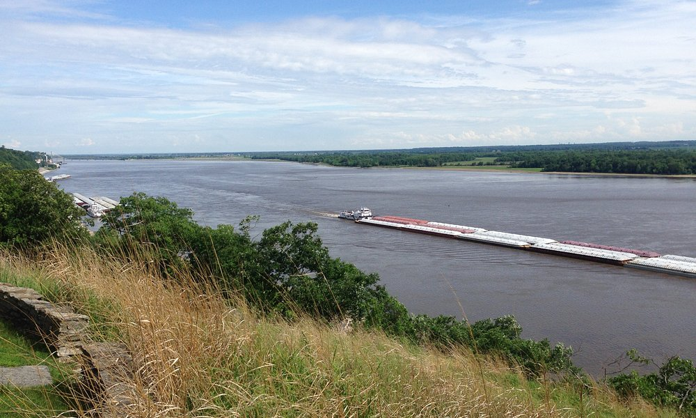 View the Mississippi River from The Nature Institute in Godfrey, Illinois