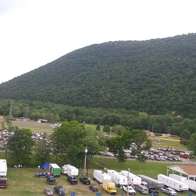 What an awesome view for a little county fairgrounds!!